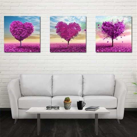 Frameless Huge Wall Art Oil Painting On Canvas Purple Heart