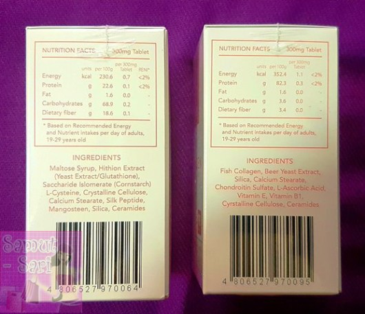 NuEssence Glutathione with Mangoesteen and Collagen Nutritional Facts