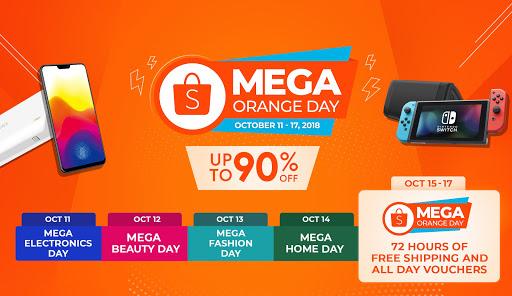 Newest Shopee Slice In-App Game and Mega Orange Day Sale