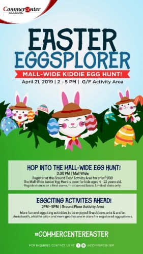 Easter Eggsplorers at Commercenter Alabang