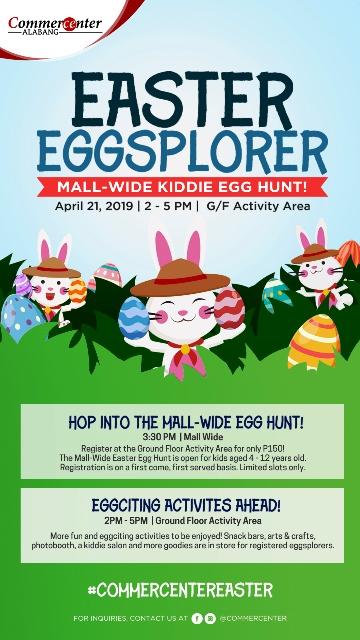 Easter Eggsplorers at Commercenter Alabang