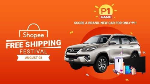 Shopee Free Shipping Festival and P1 Game win a Car