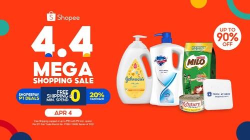 Shopee Essentials 4.4 Mega Shopping Sale