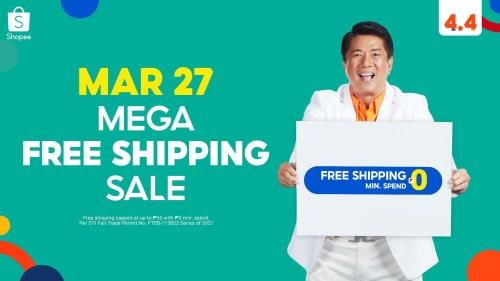 Shopee's Mega Free Shipping Sale