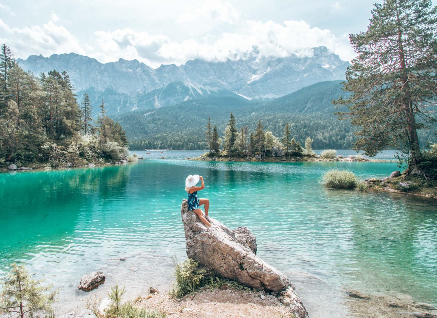 Lake Eibsee: the instagram rock
