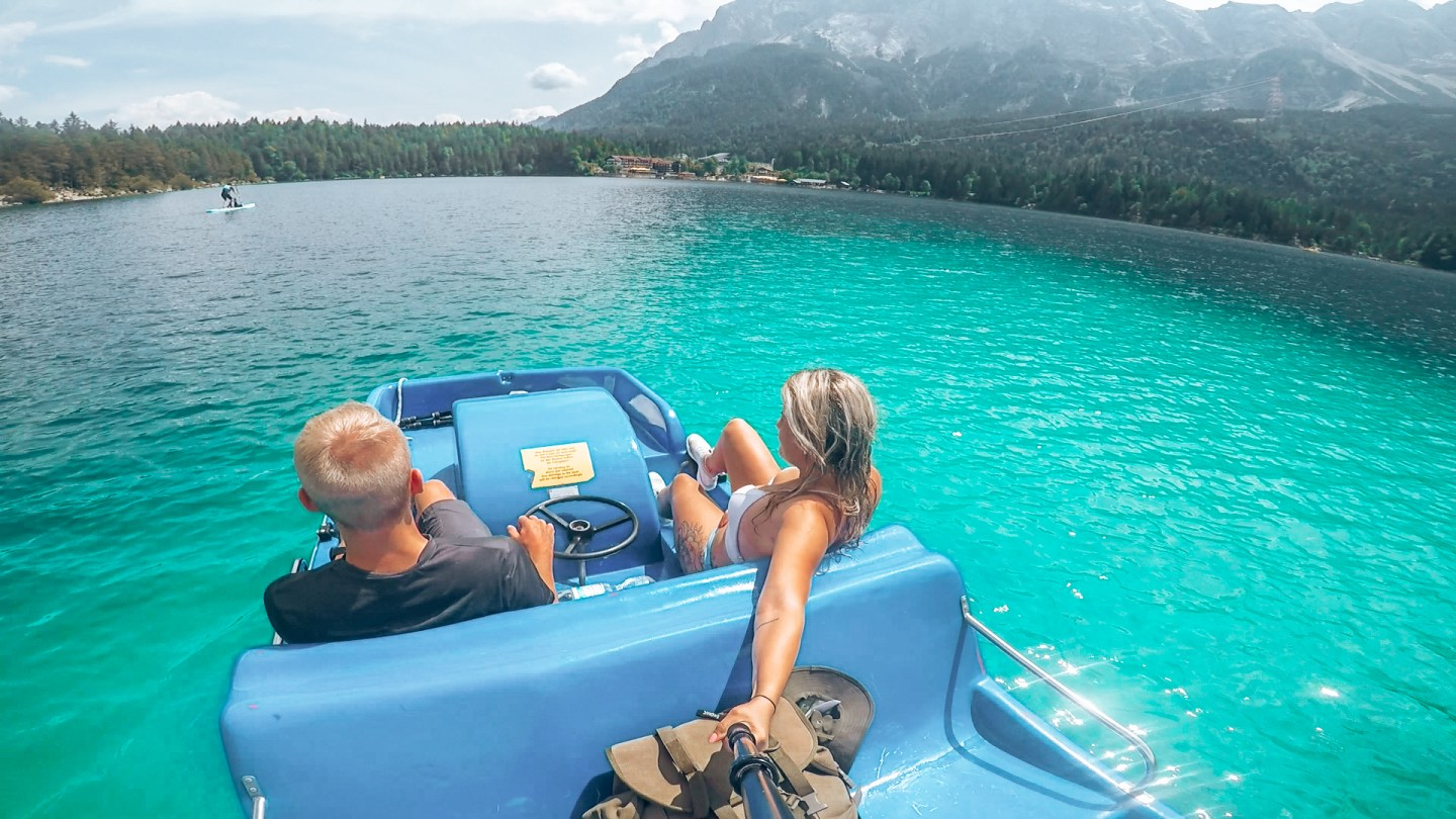 Paddle boat at lake Eibsee
