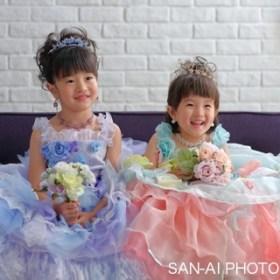 七五三 姉妹フォト 子供ドレス