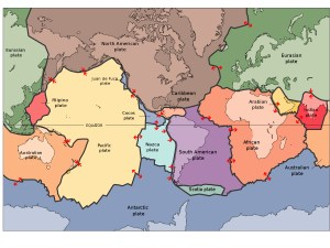 Plate tectonics, continental drift, spreading centers