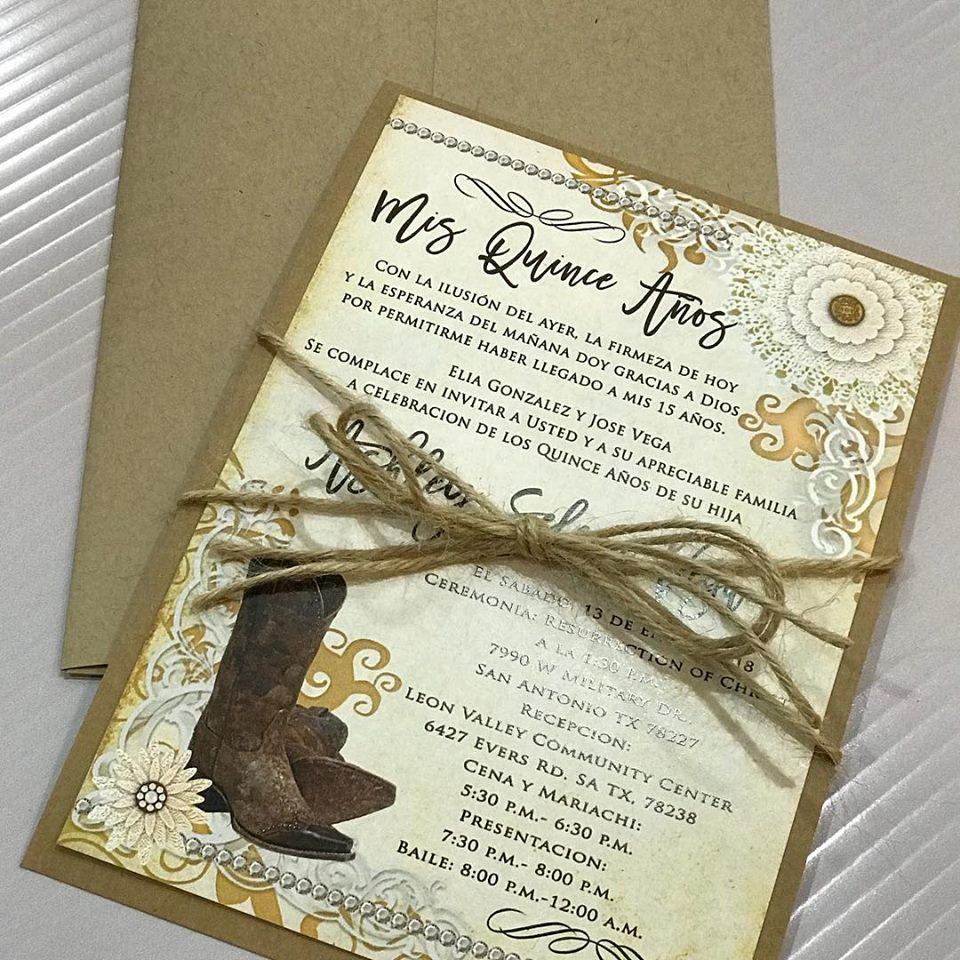 Custom 15 Invitations