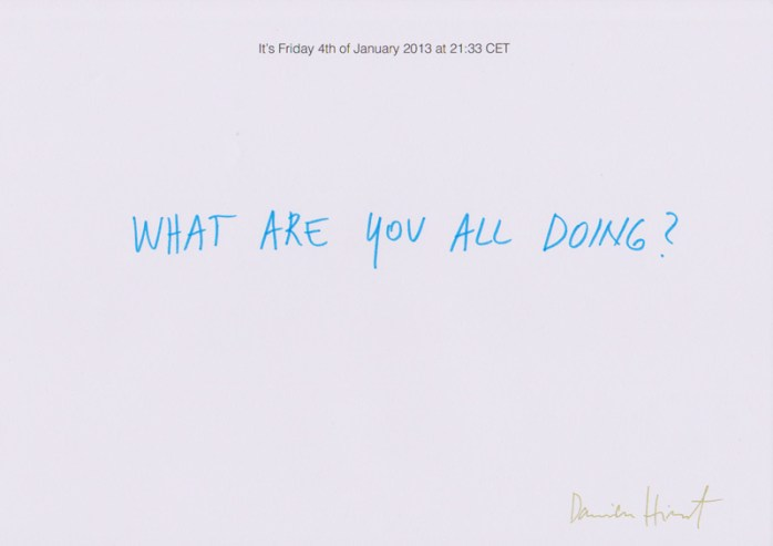 damient hirst parodi - what are you all doing