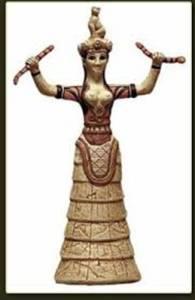 Resim 19: Girit yılanlı tanrıça