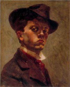 Empresyonist tarzda yaptığı kendi portresi