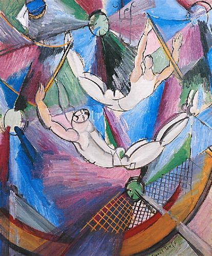 Fovist tarzda yaptığı resim. Naif Sanat (Primitivism): Akrobatlar