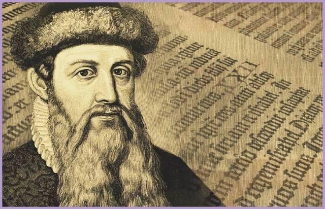 1436 yılında taşınabilir matbaanın Johannes Gutenberg tarafından icat edilmesiyle belki de dünya tarihinde bir devrim yaşanmış oldu.