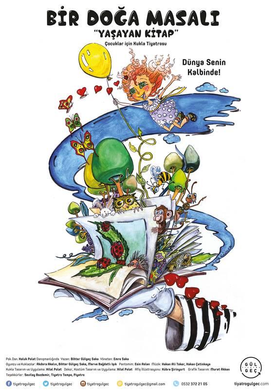 """Çocuklar İçin Kukla Tiyatrosu """"Bir Doğa Masalı Yaşayan Kitap"""" İlk Oyunu 20 Kasım'da"""
