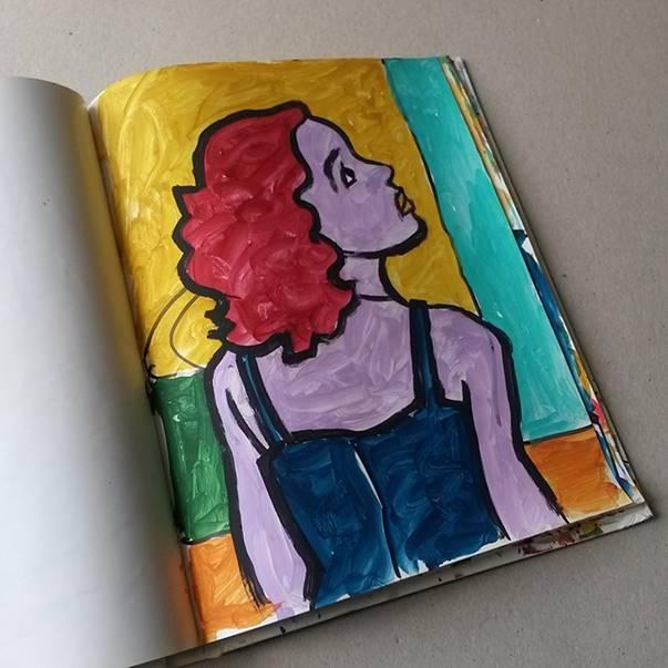 Faruk Kutlu- Maket kitap üzerine akrilik (22x29 cm-128 adet resim)