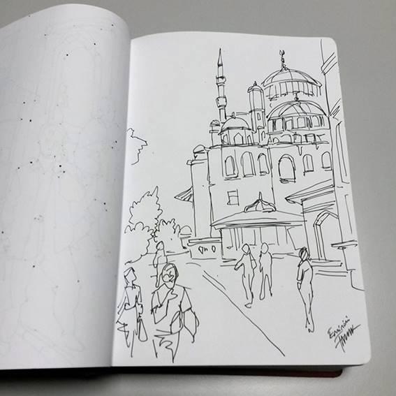 Faruk Kutlu- İstanbul desen kitabı (16x24 cm-300 adet desen)