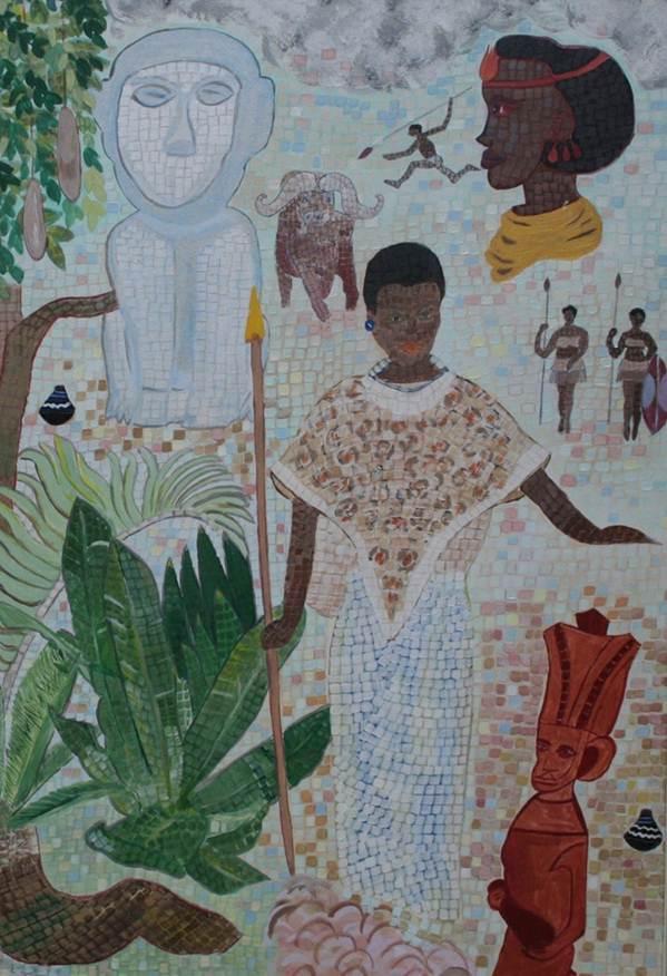 """Türkiye Cumhuriyeti Kampala Büyükelçisi H.E. Sedef Yavuzalp """"Tarihte Mozaik Yolcuğu"""" adlı kişisel sergisini Pet Holding Kültür Sanat Etkinlikleri kapsamında KEV (Köksal Eğitim Vakfı) Sanat Galerisi'nde açıyor."""