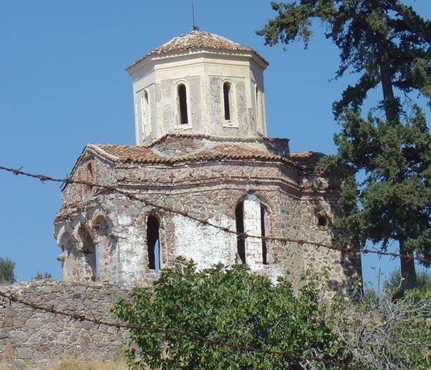 Agia Varvara Kır Şapeli, Ayvalık yakınları.