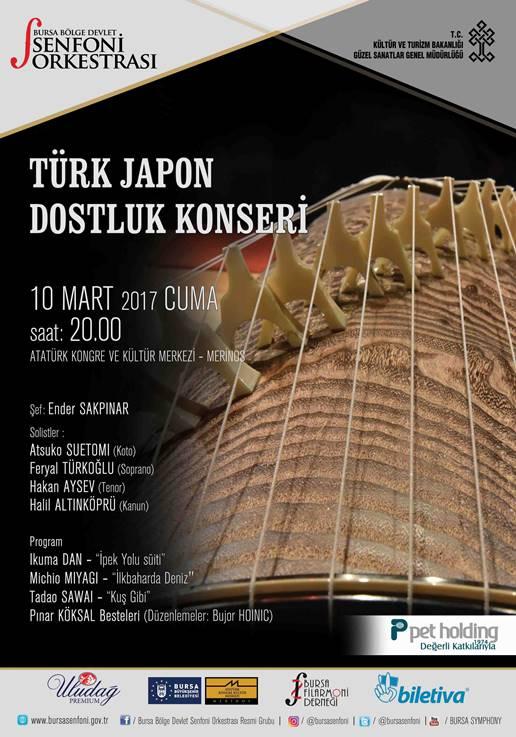 Türk - Japon Dostluk Konseri 10 Mart'ta Bursa'da