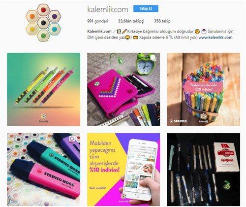 Kalemlik.com Instagram Hesabı