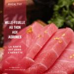 Mille-feuille au thon frais et aux agrumes