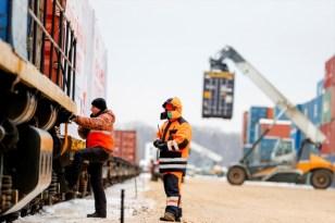 İhracat treni Moskova'ya ulaştı