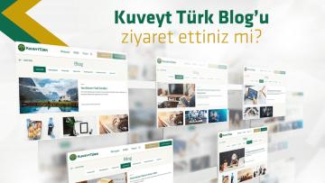 Kuveyt Türk'ün blog sayfası yayında!