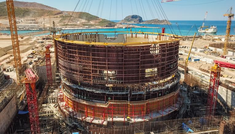 Akkuyu NGS'de 322 tonluk üçüncü katman yerleşti