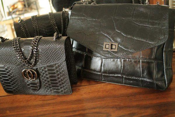 Maroquinerie Sac cuir vachette BLACK Sanbaya.fr