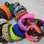 Custom paracord bracelets, dog collars, belt key hangers etc