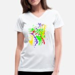Custom T-Shirt – Sublimation -T Polycotton – Women's – V Neck