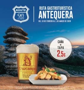 Ruta 90 Antequera Cruzcampo gastroturistica