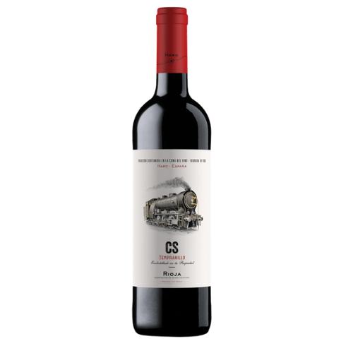 Botella de vino joven