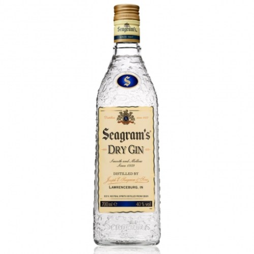Botella de ginebra Seagram 70 cl