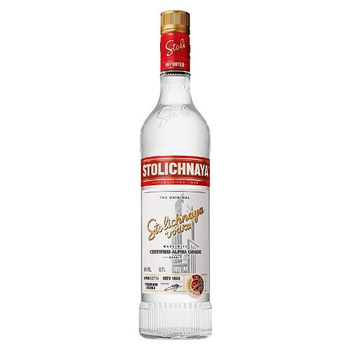 Botella de vodka ruso