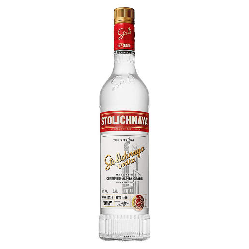 Botella de vodka ruso