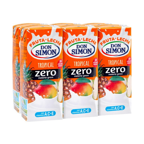 pack de zumo de fruta tropical