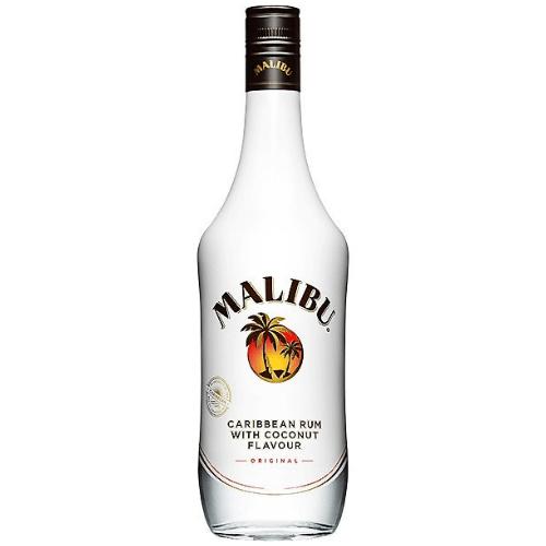 Botella de Ron Blanco Malibú