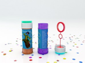 Soap Bubbles Bottle Mock-Up by Sanchi477.com