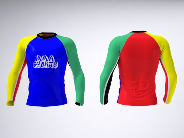 Grappling Rash Guard and Spats Mock-Up