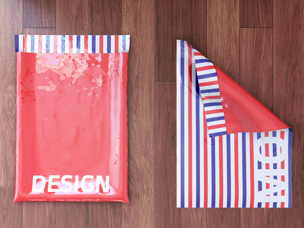 Poly Mailers Envelopes Bags Mock-Up by sanchi477.com