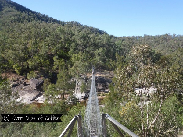 The Swinging bridge: Only for one person at a time