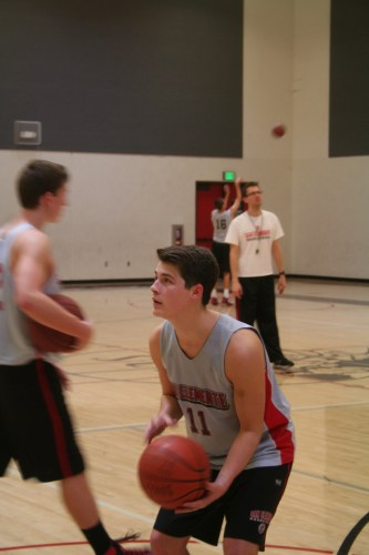 Triton senior guard Cody Bean nearly missed on a triple-double in San Clemente's 63-44 win over Trabuco Hills on February 7.