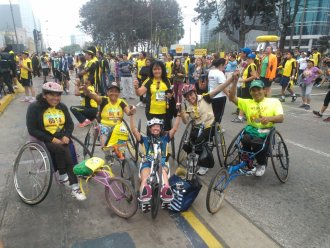 Beth Sanden completed the Lima Peru Marathon on May 19. Courtesy photo