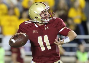 Chase Rettig returned to Southern California Saturday to lead the Boston College Eagles against USC. Photo by John Quackenbos/Courtesy of Boston College Athletics