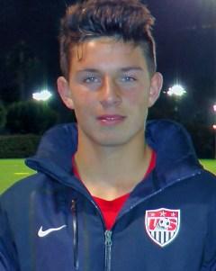 Tristan Weber scored a goal for the U.S. Soccer Boys U14 National Team in Croatia. Courtesy photo