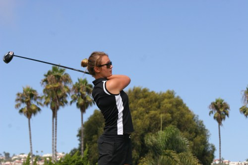 Senior Alex Cooper won consecutive match medals for the Tritons girls golf team in wins over Dana Hills. Photo: Steve Breazeale