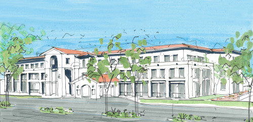 A rendering of the potential look of a proposal for a medical pavilion at the current site of the Saddleback Memorial San Clemente campus. Photo: Courtesy MemorialCare