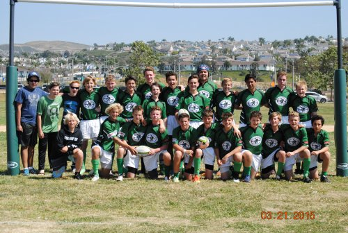 The San Clemente Gators Youth Rugby Club's U14 boys team will play for the U14 Southern California State Championship March 28. Photo: Courtesy